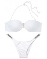 Купальник Бандо Victoria's Secret Ventanas Bandeau Push-up Top, белый