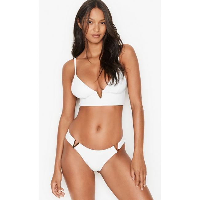 Купальник Victoria's Secret Monaco V-Hardware Swim, белый