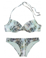 Купальник Victoria's Secret Push-Up Fabulous Top & Cheeky Bottom, змеиный принт