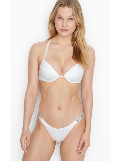 Купальник со стразами Victoria's Secret Malibu Fabulous Shine Strap Swim, белый