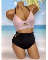 Купальник Victoria's Secret Pink Strappy Plunge & High-Waist Bikini
