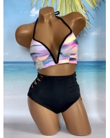 Купальник Victoria's Secret Pink Strappy V-Wire Plunge & High-Waist Bikini