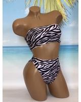 Купальник Бандо Victoria's Secret Bandeau, Zebra Print