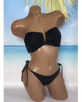 Купальник Бандо Victoria's Secret Bandeau V-wide, чёрный