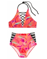 Купальник Victoria's Secret Pink Embroidered Strappy High-Neck  & Strappy High-Waist Bikini
