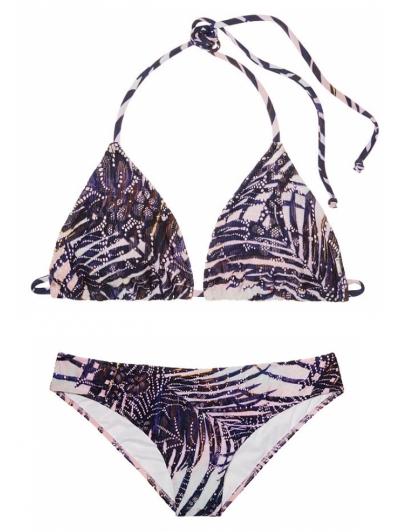 Купальник Victoria's Secret Lace Triangle Pink с пальмовым принтом