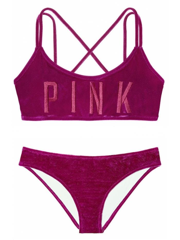 2c21a26955 Бархатный купальник-топ Victoria s Secret Pink Velvet Scoop   Velvet Bikini