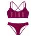 Бархатный купальник-топ Victoria's Secret Pink Velvet Scoop  & Velvet Bikini