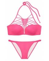 Купальник Victoria's Secret PINK Lightly Lined Macramé High-Neck & Macramé Bikini