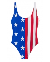 Сдельный купальник Victoria's Secret Pink USA flag