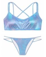 Бархатный купальник-топ Victoria's Secret Pink Velvet Scoop  & Velvet Mini Bikini
