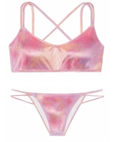 Бархатный купальник-топ Victoria's Secret Pink Velvet Scoop  & Velvet Mini Bikini