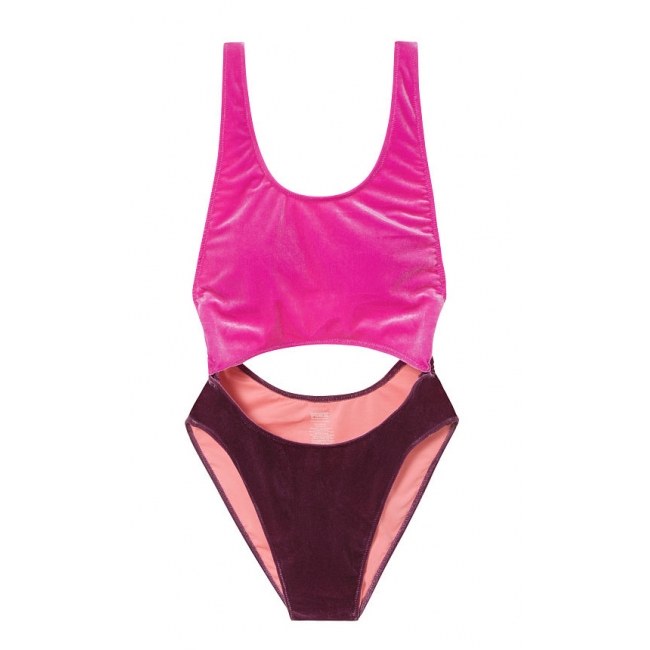 Бархатный Купальник Victoria's Secret PINK Velvet Cutout One-Piece