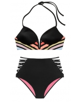 Купальник Victoria's Secret Pink Strappy V-Wire Plunge & High-Waist Bikini