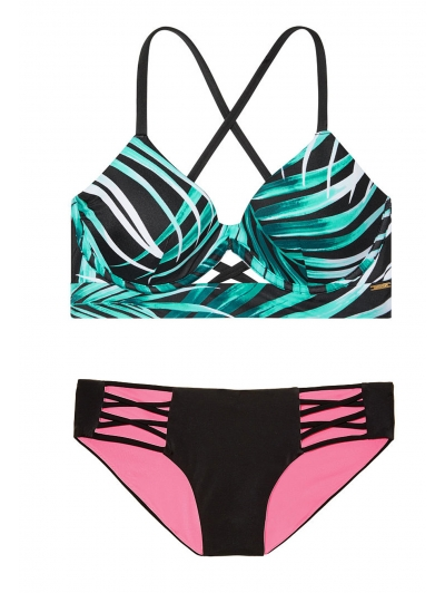 Купальник Victoria's Secret Pink Push-Up Cross-Back Scoop &  Bikini