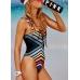 Сдельный купальник Victoria's Secret PINK Lace-Up Front One-Piece, мультиколор