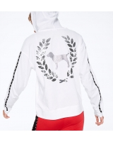 Толстовка с паетками Sequin Bling Perfect Funnel Neck Hoodie Tee