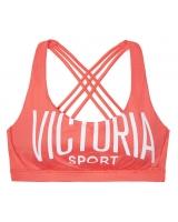 Спортивный бюстгальтер-топ Victoria's Secret Crossback Sport Bra Coral