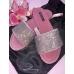 Шлёпки Виктория Сикрет Embellished Velvet Slides, розовые