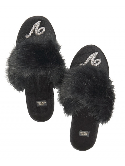 Тапочки Виктория Сикрет Velvet Logo Slippers